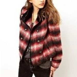 Free People : NWT Wool Buffalo Bomber Jacket